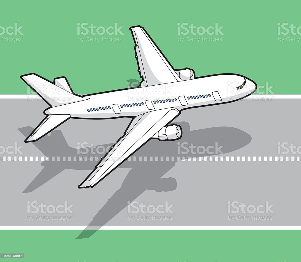 isometric airplane - illustration royalty-free isometric airplane illustration stock vector art & more images of airfield