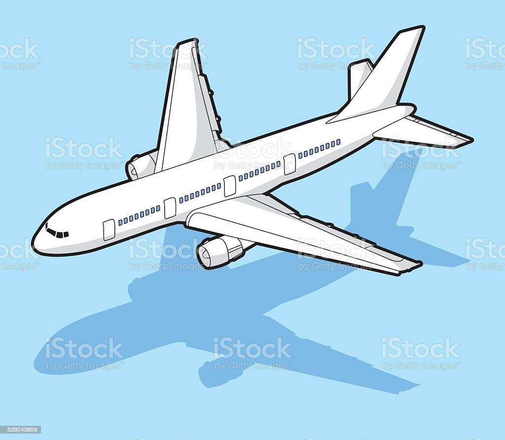 isometric airplane - illustration royalty-free isometric airplane illustration stock vector art & more images of airplane