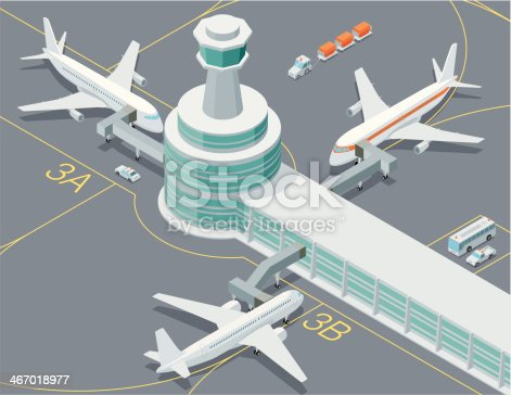 Isometric, Airport transport Set made in adobe Illustrator (vector)