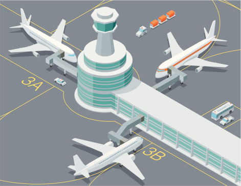 Airport stock illustrations