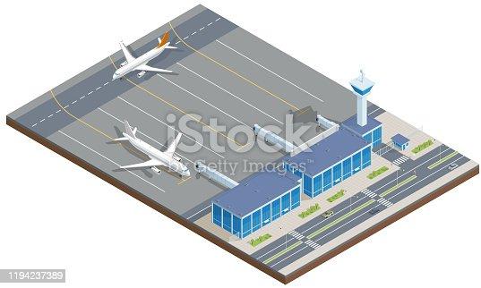istock Isometric Airport 1194237389