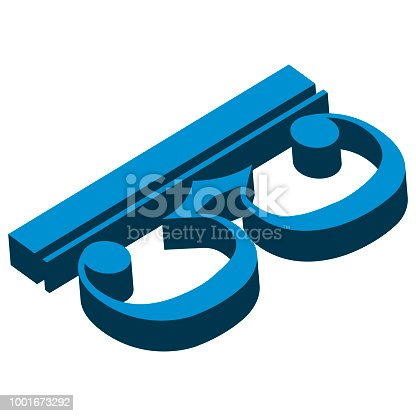 Isometric alto and tenor clef musical note. Vector illustration design