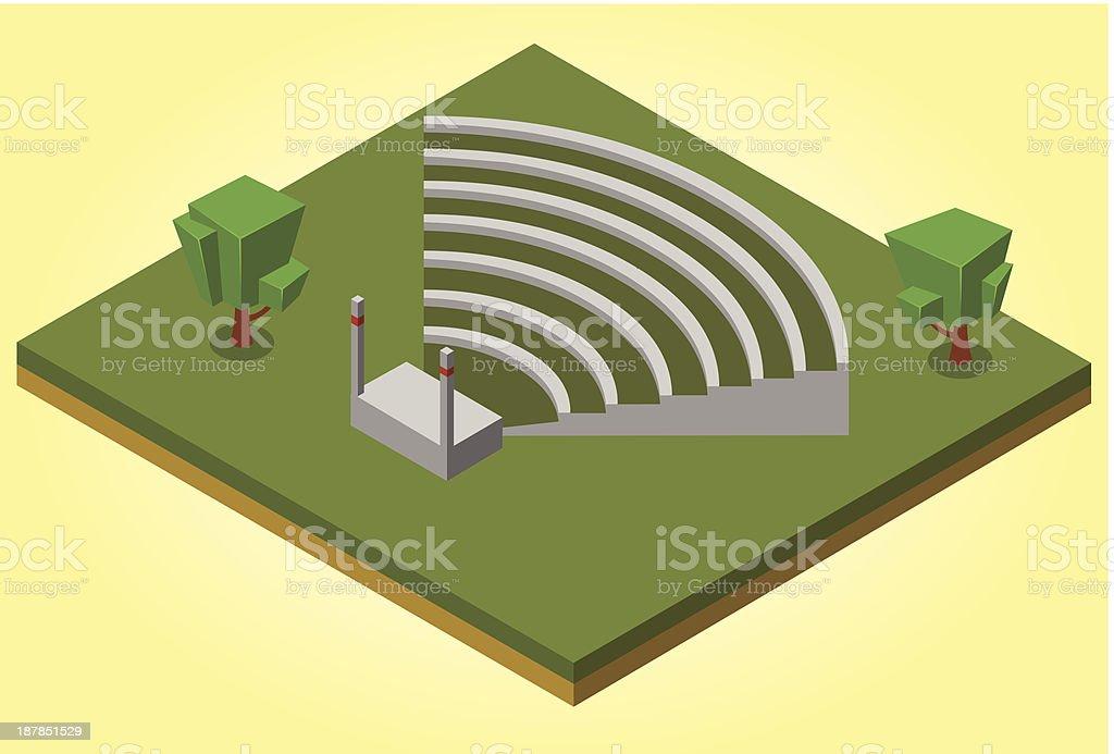 isometric amphitheater vector art illustration