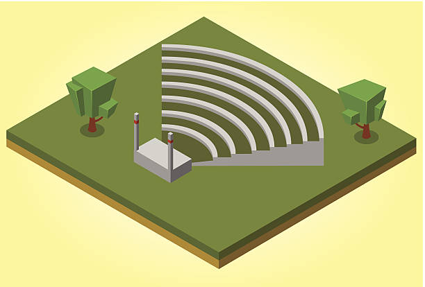 isometric amphitheater illustration of an isometric amphitheater. Available in vector eps 8 file amphitheater stock illustrations