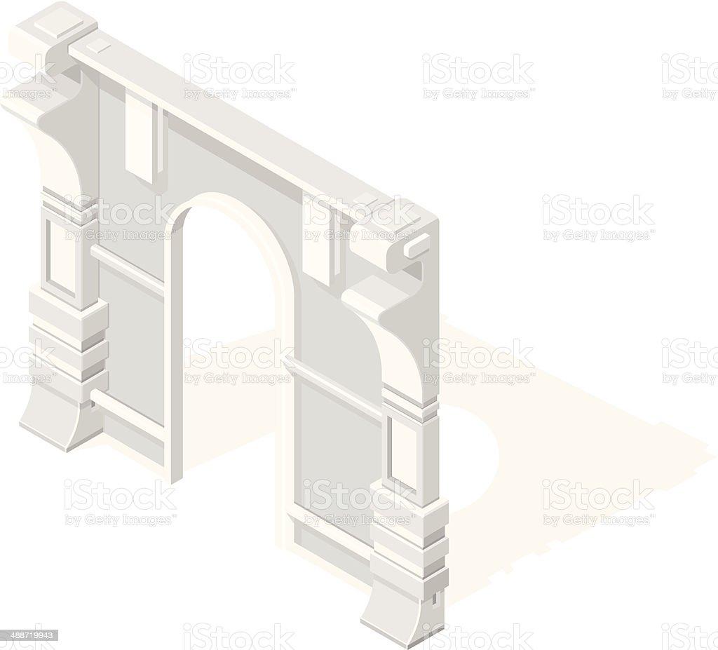 Isometric Arch vector art illustration