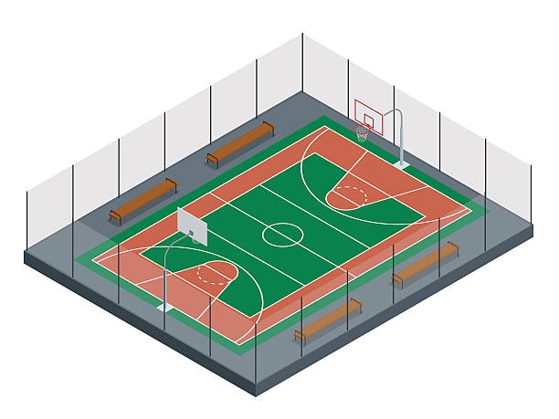 Royalty Free Indoor Basketball Court Clip Art, Vector Images ...