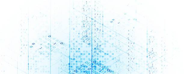 Isometrisches Big Data Flow Processing Konzept, Cloud-Datenbank. Abstrakter Technologiehintergrund. Vektor-Illustration – Vektorgrafik