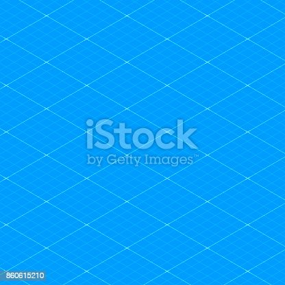 Isometric blueprint grid seamless pattern texture background vector isometric blueprint grid seamless pattern texture background vector illustration stock vector art more images of attached 860615210 istock malvernweather Images