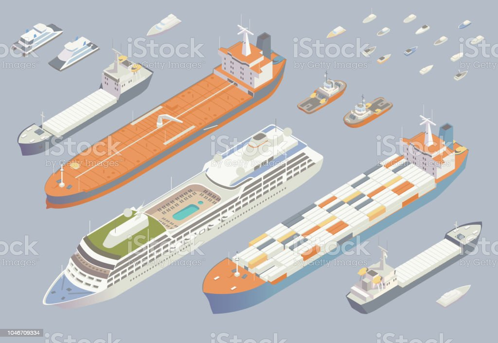 Isometric boats and ships royalty-free isometric boats and ships stock vector art & more images of aerial view