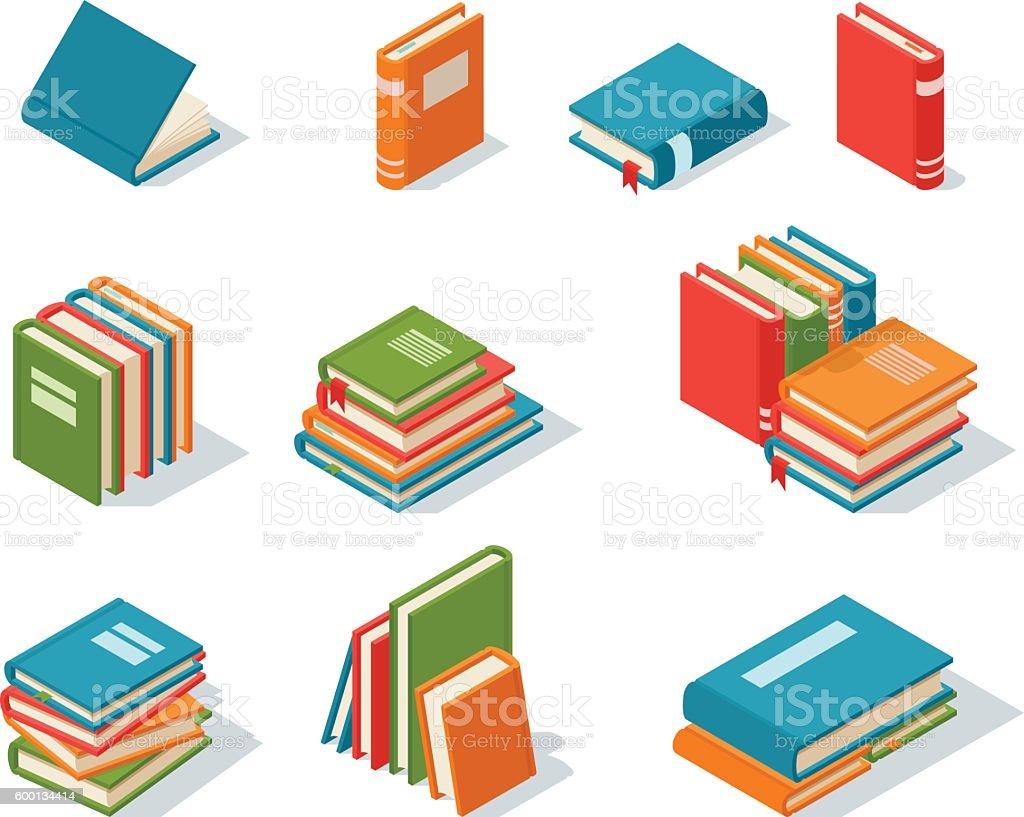 Isometric book icon vector illustration. vector art illustration