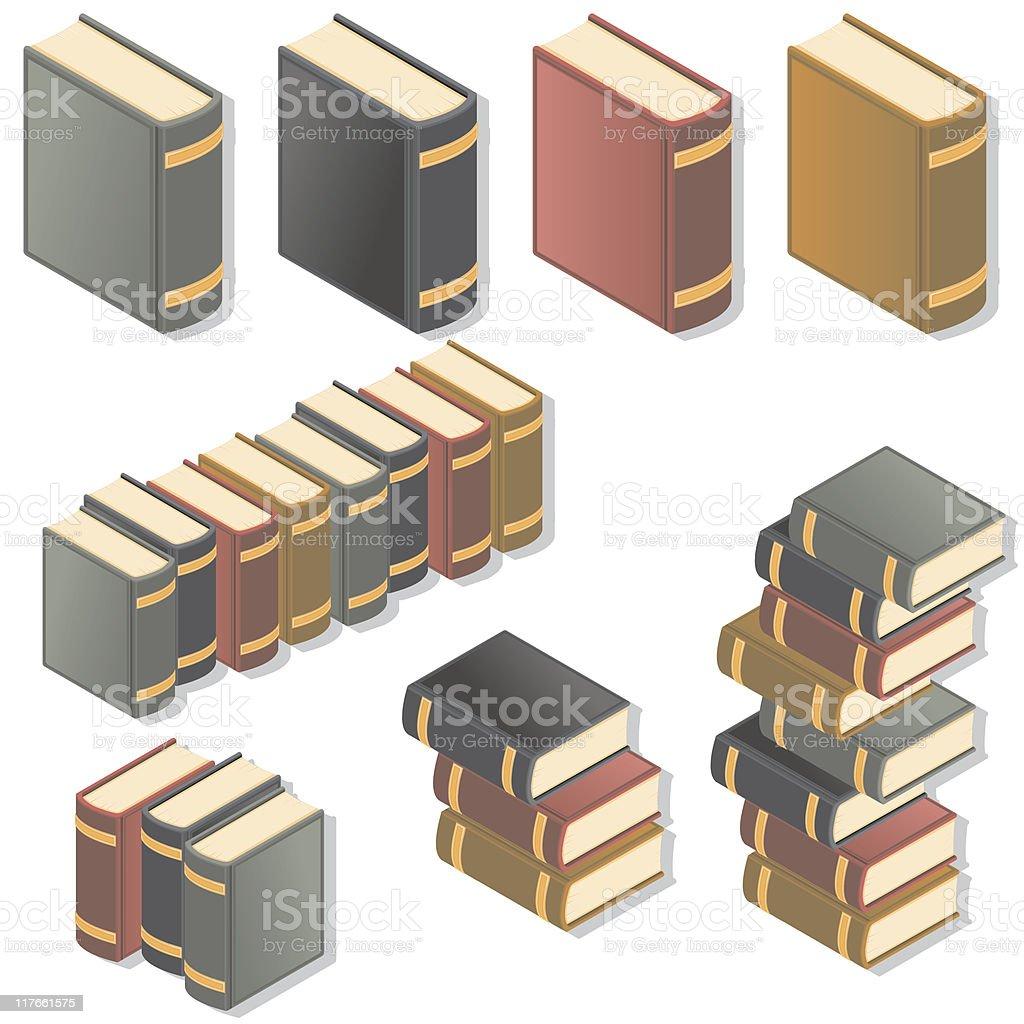 Isometric Books vector art illustration