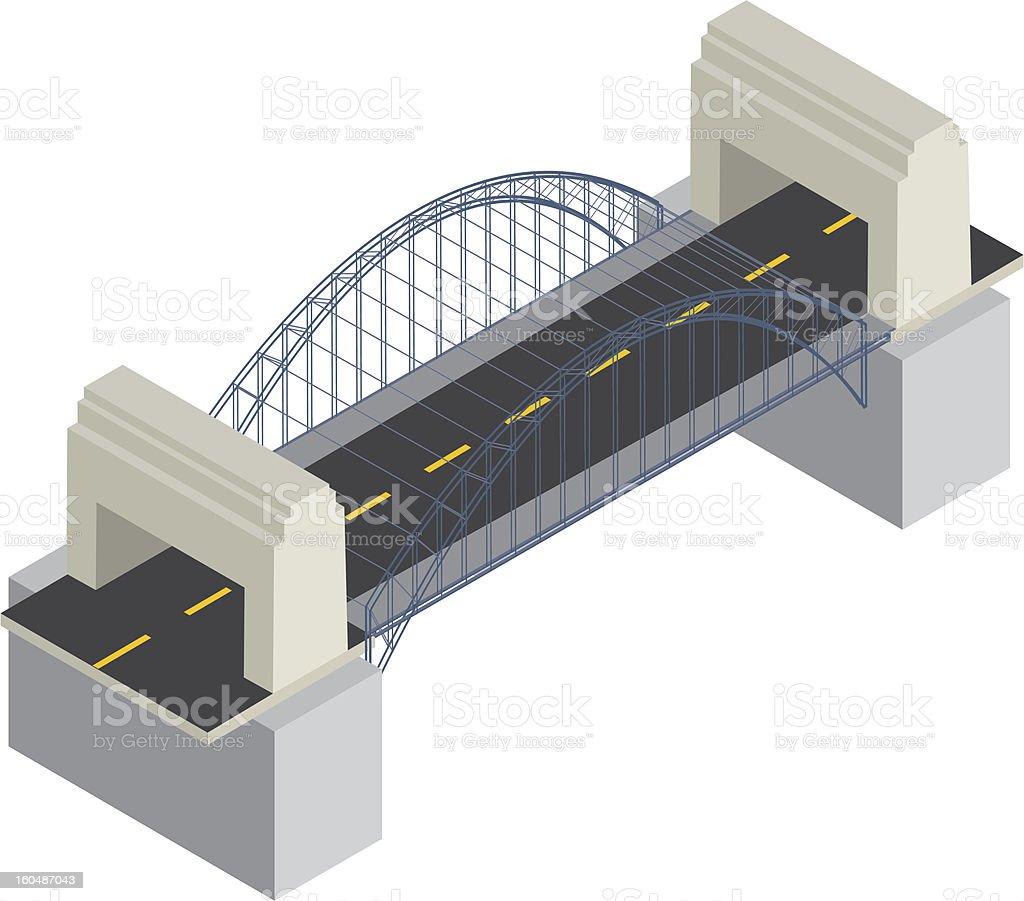 Isometric bridge royalty-free stock vector art