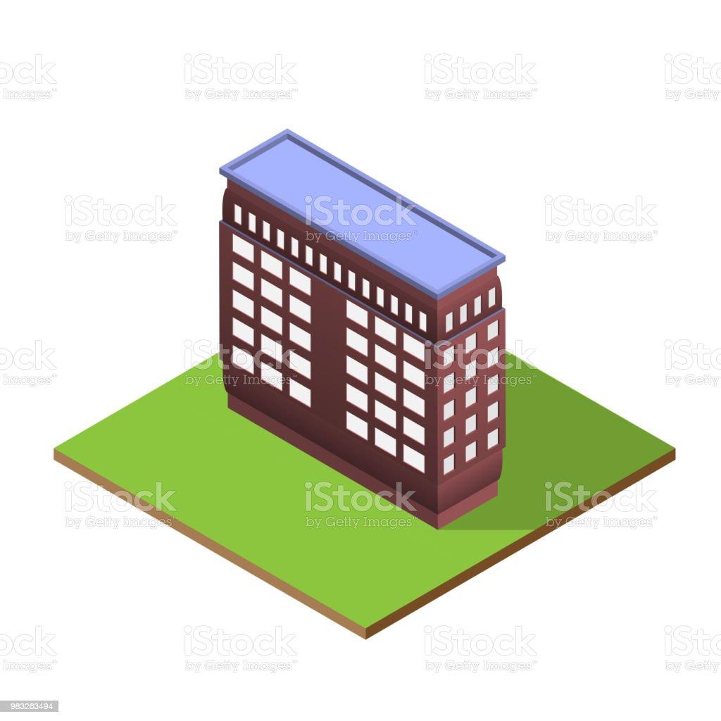 Isometrische Aufbau Brief Formular I Stock Vektor Art Und Mehr