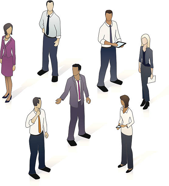Isometric Business People vector art illustration