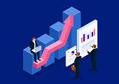 Isometric business plan development and data analysis