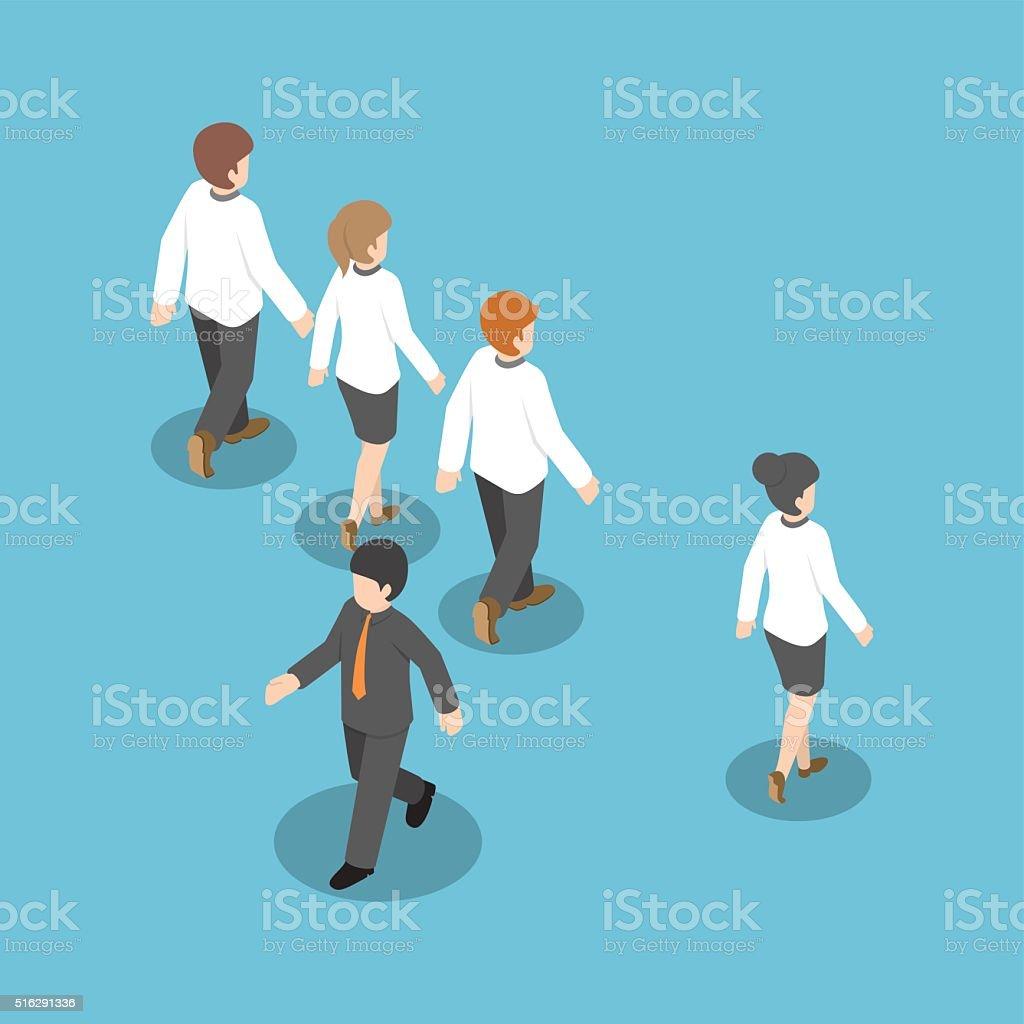 Ilustración de Isométricos Hombre De Negocios Caminando Al Modo ...