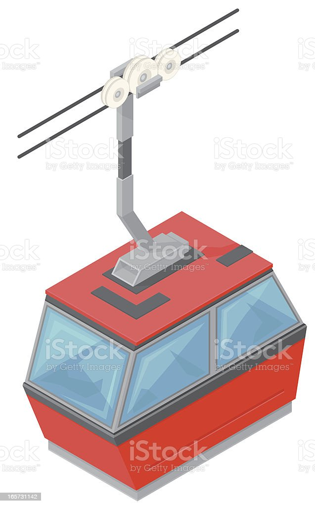 Isometric Cable Car royalty-free stock vector art