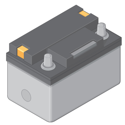 Isometric Car or Vehicle Battery