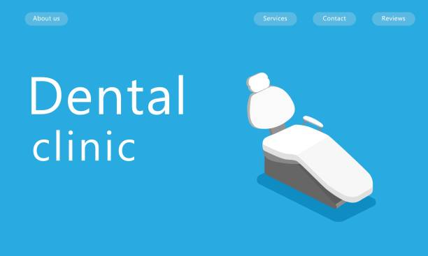 isometric chair dental clinic, room dentist - medical technology stock illustrations