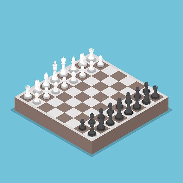 illustrations, cliparts, dessins animés et icônes de isométrique pièce d'échecs ou d'échecs et planche à repasser - échec
