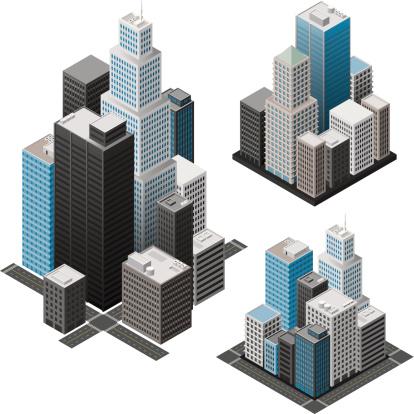 Isometric cities