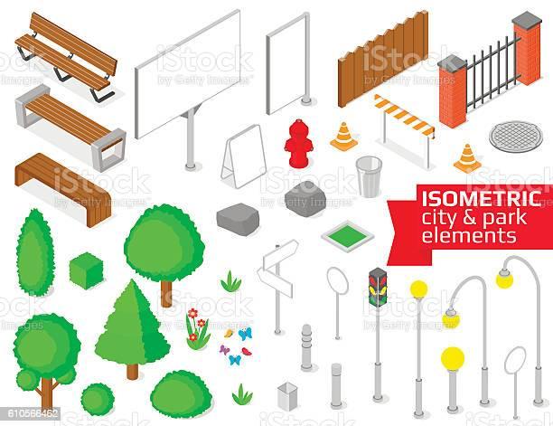 Isometric city and park elements set vector id610566462?b=1&k=6&m=610566462&s=612x612&h=feepccfqahho7p1okq84egeuvvy5rl e puto3imy54=