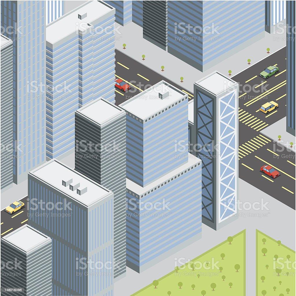 Isometric, City Life royalty-free stock vector art