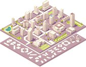 Isometric city map creation elements