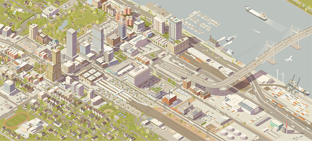 Isometric City Stock Illustration - Download Image Now