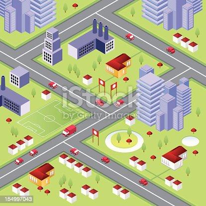 istock Isometric city with skyscrapers 154997043