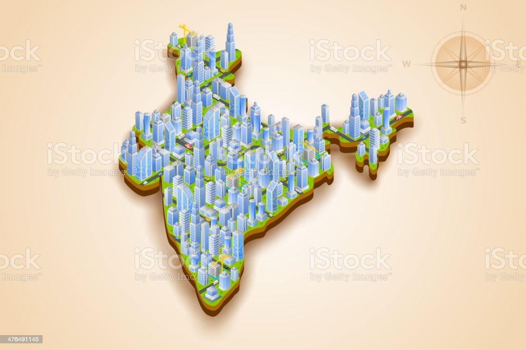 Isometric Cityscape of India royalty-free isometric cityscape of india stock vector art & more images of apartment