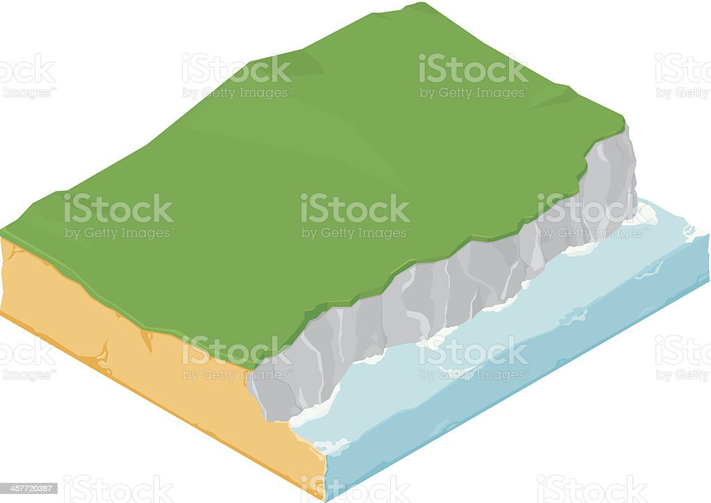 Isometric Cliff Icon royalty-free stock vector art