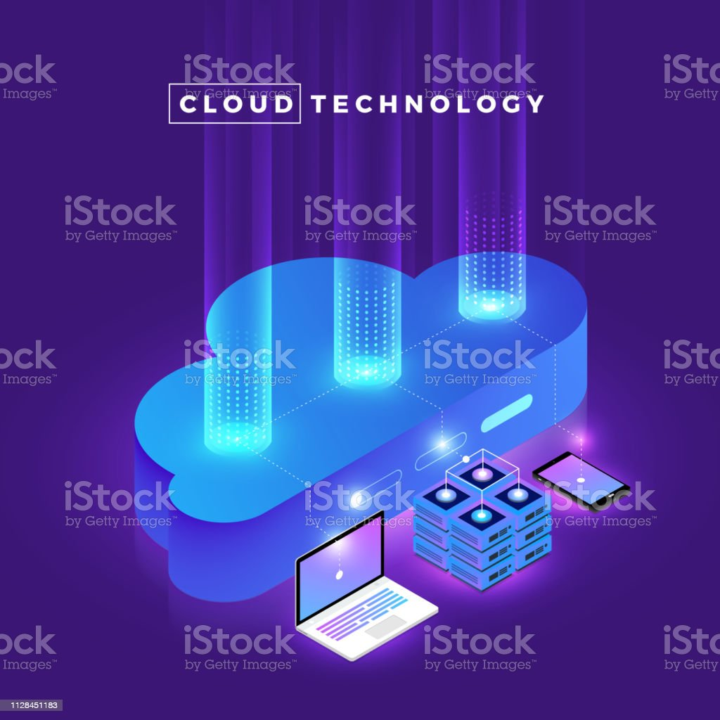 Isometric Cloud Technology royalty-free isometric cloud technology stock illustration - download image now