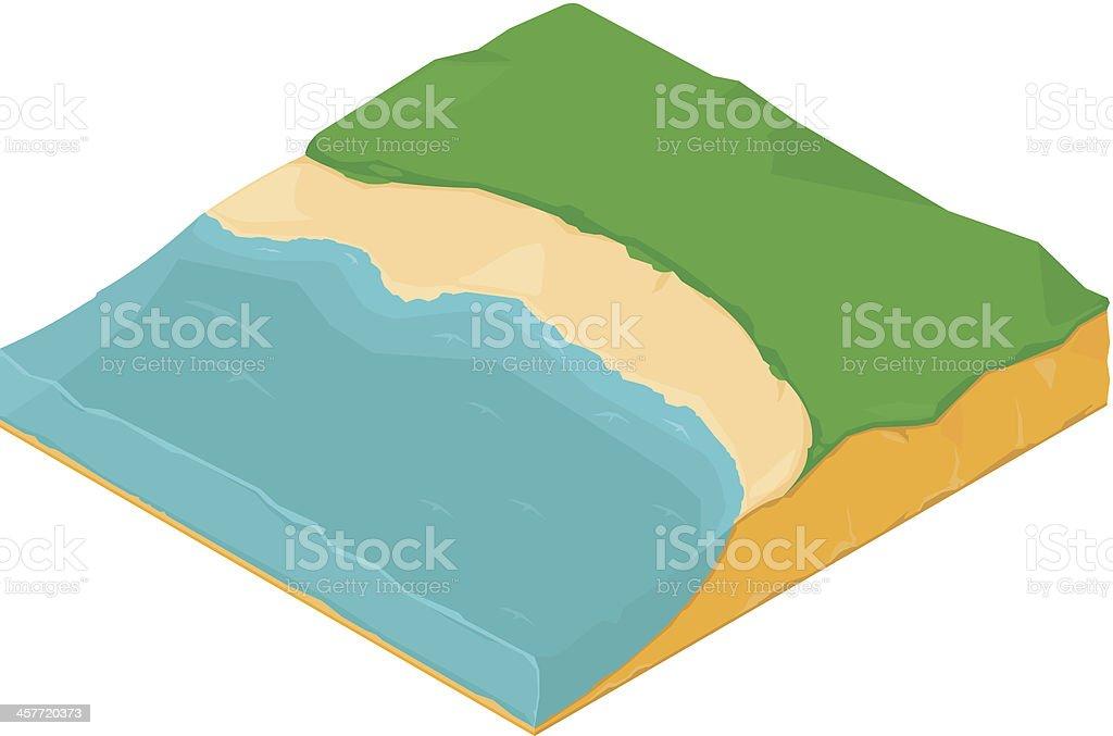 Isometric coastline Icon royalty-free stock vector art