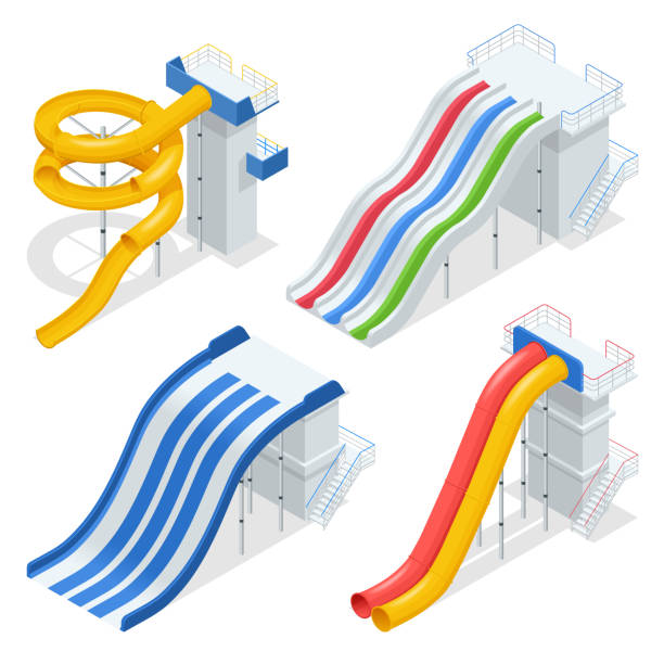 Inflatable Water Slides For Kids Of Different Shapes. Summer.. Royalty Free  Cliparts, Vectors, And Stock Illustration. Image 108517167.