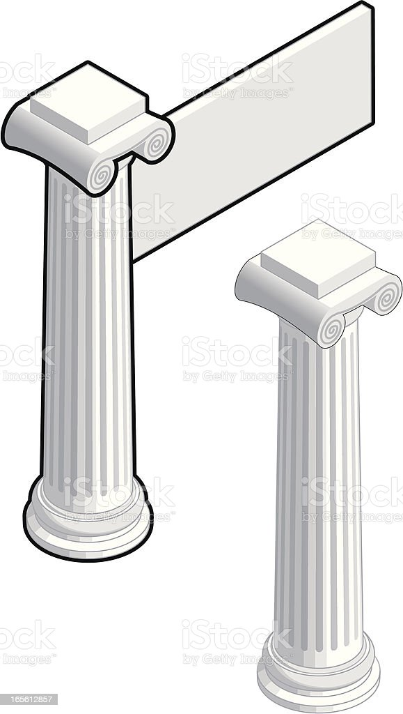 Isometric Column royalty-free stock vector art