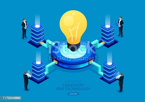 Isometric commercial digital technology and creativity
