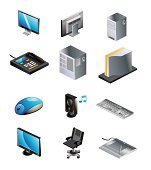 Isometric Computer and Technology Icons