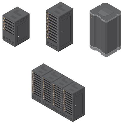 Isometric Computer Network Severs