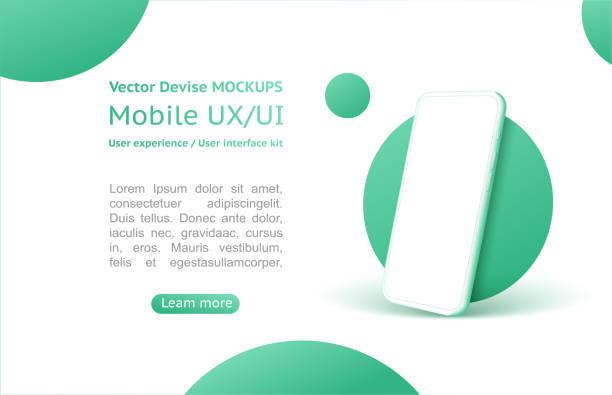 ilustrações, clipart, desenhos animados e ícones de design conceito isométrico para um aplicativo, design ui ux. - mobile