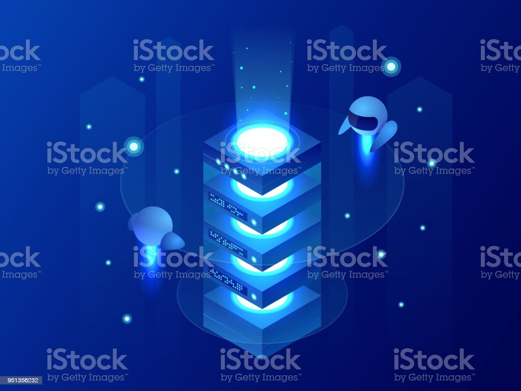 Isometric Concept Of Big Data Processing Energy Station Of