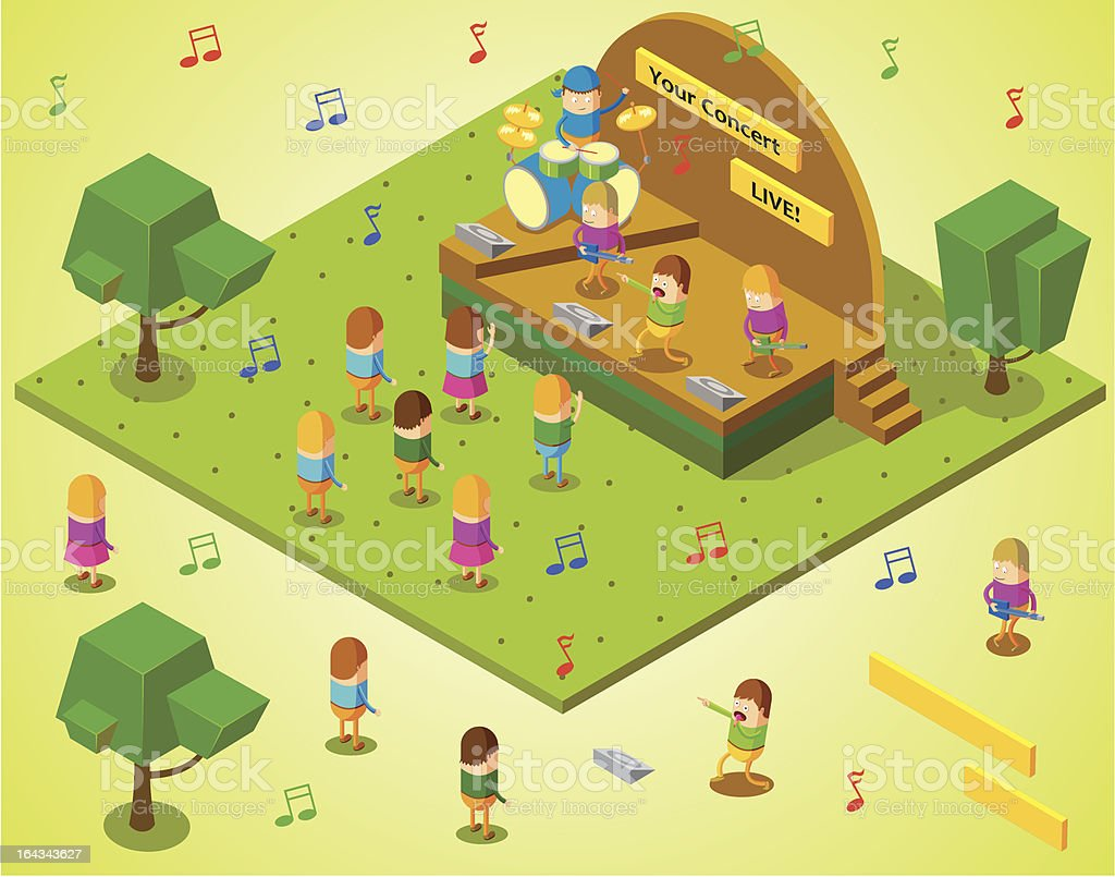 isometric concert royalty-free stock vector art