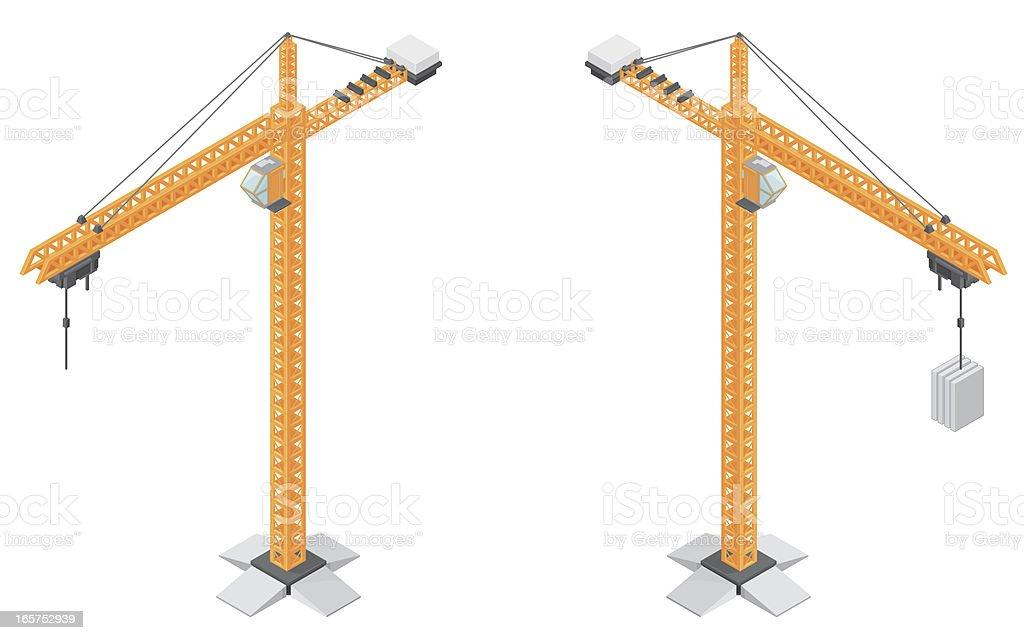Isometric Construction Crane royalty-free stock vector art