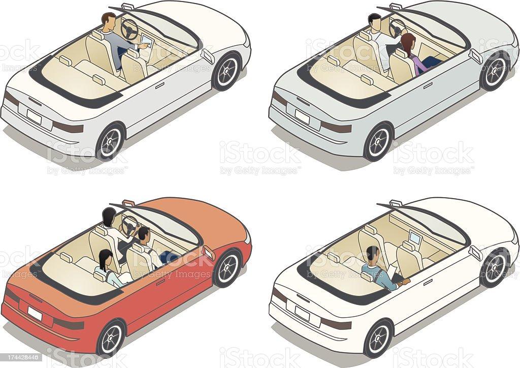 Isometric Convertible Illustrations vector art illustration