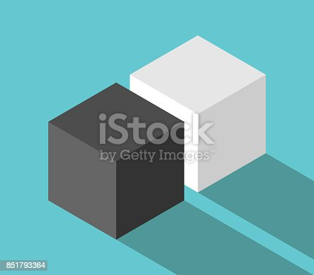 istock Isometric couple of cubes 851793364