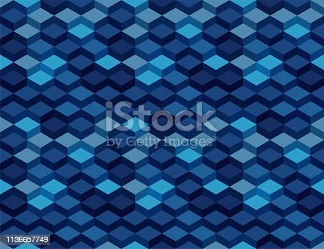 3D Isometric Cube Seamless Pattern