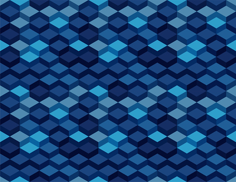 3D Isometric Cube Seamless Pattern
