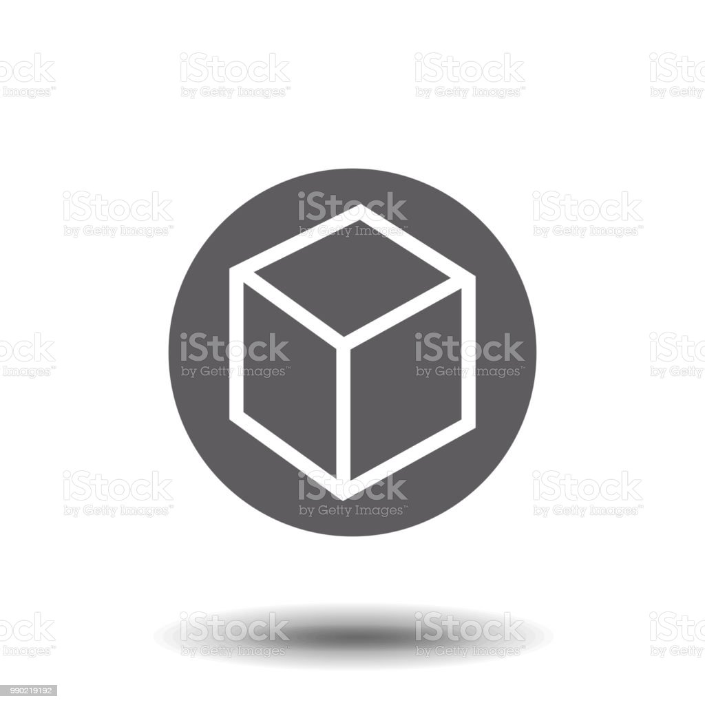 Isometric Cube Vector Icon 3d Square Sign Box Symbol Stock Vector