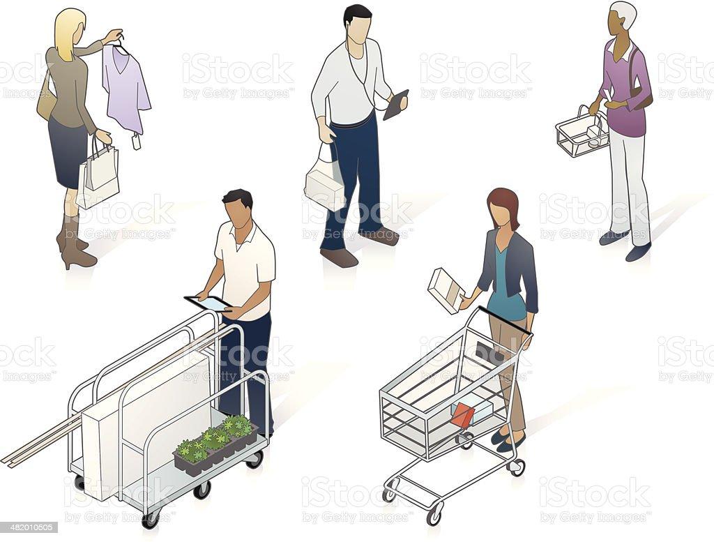 Isometric Customers Illustration royalty-free stock vector art
