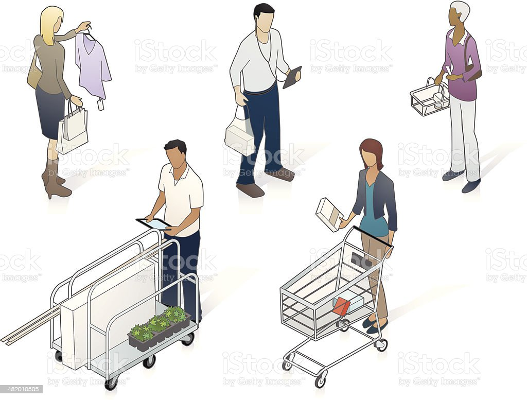 Isometric Customers Illustration vector art illustration